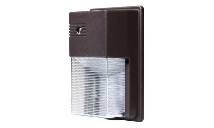 Bronze 800-Lumen Outdoor Integrated LED Wall Pack Light ...