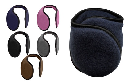 2 Pairs: Fleece Earmuffs - Assorted Colors