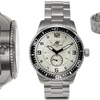 Aubert Freres Montagne Mens Watch Silver/Silver