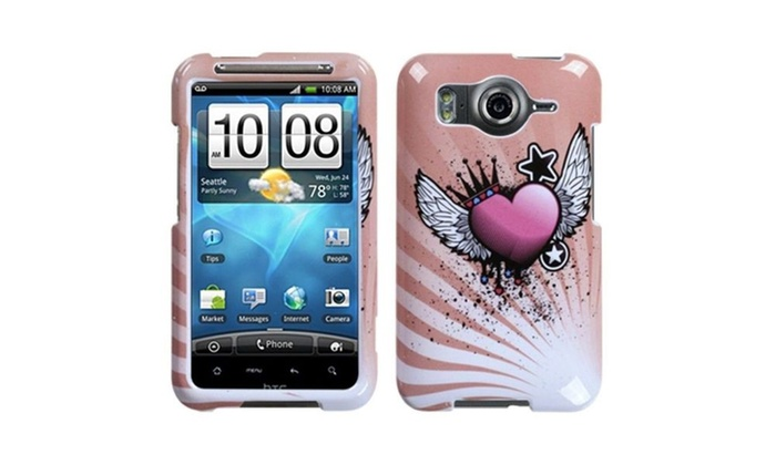 outlet store 193c1 6f3cf Insten Crowned Heart Phone Case for HTC: Inspire 4G
