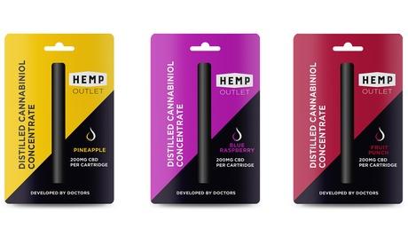 CBD Disposable Vape Pen by Hemp Outlet - 200mg