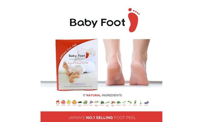 Up To 86 Off On Baby Foot Original Exfolian Groupon Goods