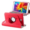 Insten Red For Tab 4 Galaxy Tablet Rotating 360 Case w Stand