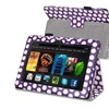 Insten For Kindle Fire HDX 7 Stand Leather Case Purple White Dot