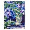 David Lloyd Glover Lavendar Hydrangeas Canvas Print