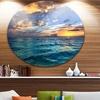Exotic Tropical Beach at Sunset' Seashore Metal Circle Wall Art
