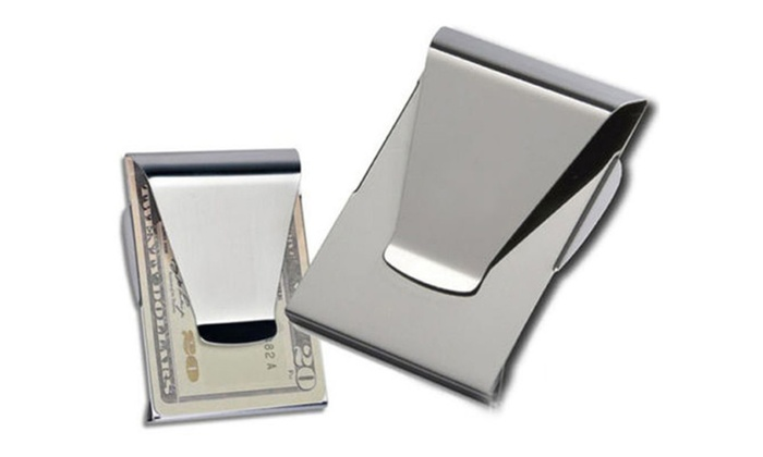 Double Sided Stainless Steel Money Clip