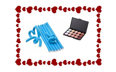 Hair Roller Bigoudis & 15Color Concealer Perfect Gift For Valentine Day 60965ff0-8c5e-43ae-a0a5-5555e19ab781