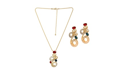 ROYAL BEAUTY NECKLACE & EARRING SET