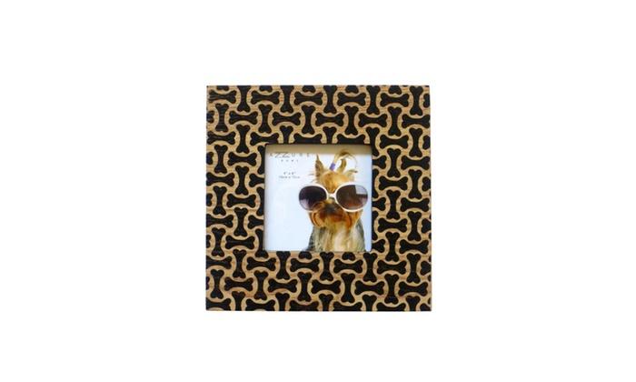 AZZURE HOME 4x4 Puzzle Dog Bone Wood Frame | Groupon