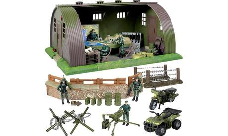 Click N Play Mega Military Army Base Barrack Command Center Play Set 33bd3627-73d3-4f73-9885-a14fec3fb4da