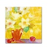 Sheila Golden Red Vase With Apples Canvas Print