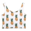 Women's Fashion Sleeveless Strap Crop Plant Printed Tank Tops