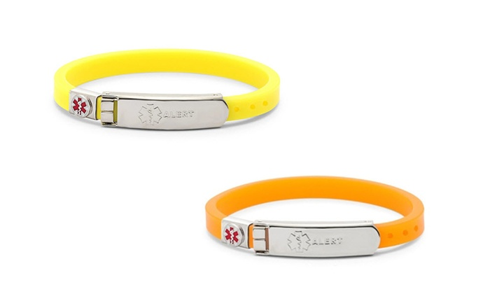 Thin Rubber Medical Id Bracelet Groupon