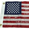 1980 USA Hockey Autographed USA Flag Inscribed Do You Believe In Mirac