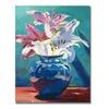 David Lloyd Glover Lilies in Blue Canvas Print