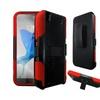 Insten Hard Hybrid Case W/holster For Zte Quartz Z797c Black/red