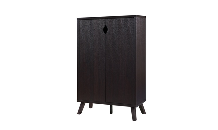 Benzo Transitional Style Cappuccino 5 Shelf Cabinet