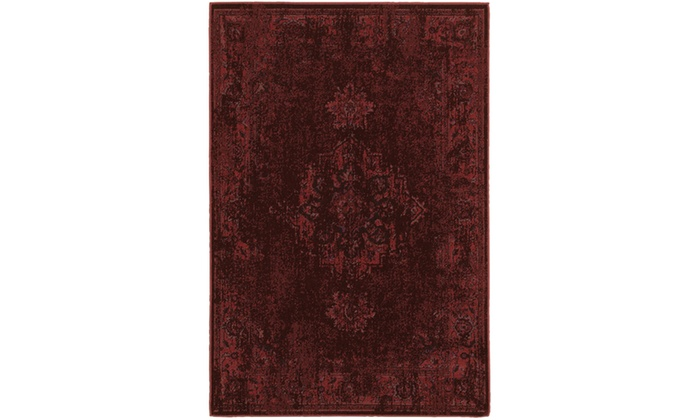 Monarch Vincent Red Pink Overdyed Area Rug Groupon
