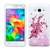 Insten Tuff Flowers Hard Case For Galaxy Grand Prime Pink White