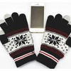 Snowflake Touchscreen Gloves-Black