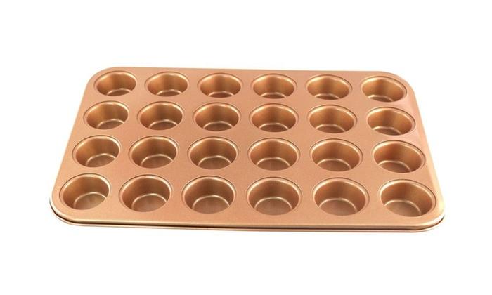 24 Cup Mini Cupcake Copper Pan Groupon