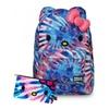 Hello Kitty Blue Pink Tie Dye School Backpack & Pencil Case Set