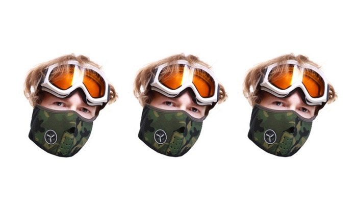 Warm and Durable Men's Camo Face Mask 3 Pack