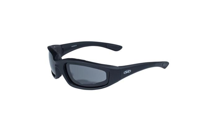 Global Vision Kickback Black Frame w-EVA Padding Smoke Lens