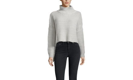 CLICHE Long Sleeve Turtleneck Sweater