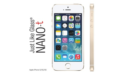 iPhone 5/5c/5s Just like Glass® NANO-t Screen Protector