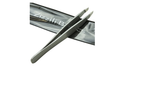Tweezers - Surgical Grade Stainless Steel with Slant Tip e058a2d0-4c8b-48a1-9041-bf8e09fe8db8