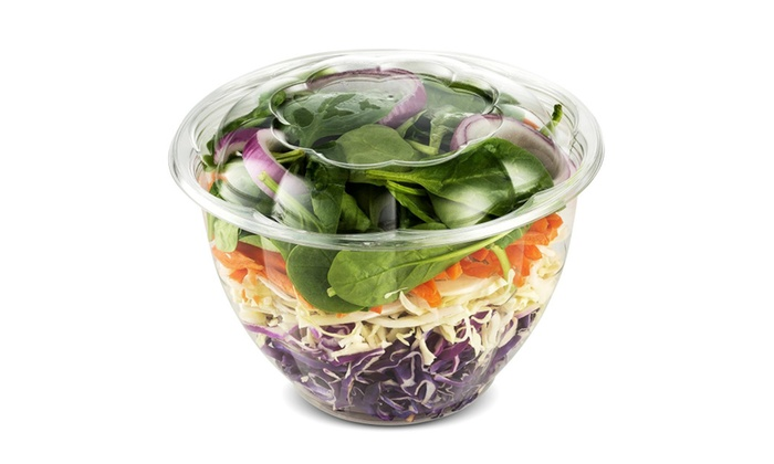 8881c673fce8 50 Pack Clear Plastic Disposable Salad Containers with Lids in Bulk