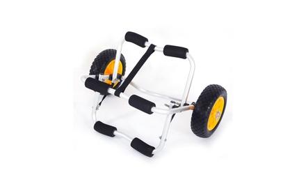 Aluminum Kayak Jon Boat Canoe Gear Dolly Cart Trailer Carrier Trolley Was: $45 Now: $29.50.