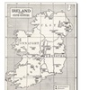 Map of Ireland in the Sixth Century Canvas Print
