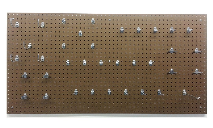 24x48x1/4 Tempered Board/36 Hooks