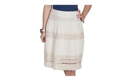 Scully HC210-IVO-M Womens Multi Panel Short Skirt