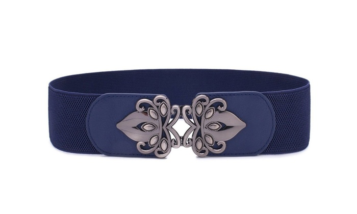 3a92383315e Womens Vintage Wide Elastic Stretch Belt Retro
