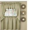 Opaque Ribcord Kitchen Curtains - Swag Pair