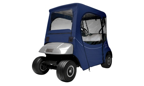 Fairway Fadesafe E-Z-Go Golf Car Enclosure, Short Roof, Navy 0fdc368c-74f4-41dd-be24-0defac312bd2