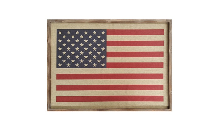 Stratton Home Decor American Flag Wall Art | Groupon