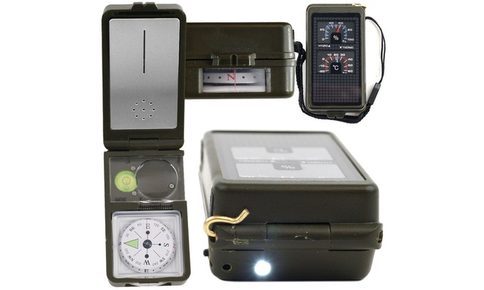 10 in 1 Multi-Function Compass with LED Light