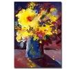 Sheila Golden Yellow Flowers Canvas Print