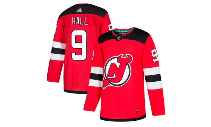 c0bdbce080b Mens New Jersey Devils Taylor Hall Red Player Jersey
