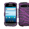 Insten Zebra Purple Diamante Case for SAMSUNG R720 Admire Vitality