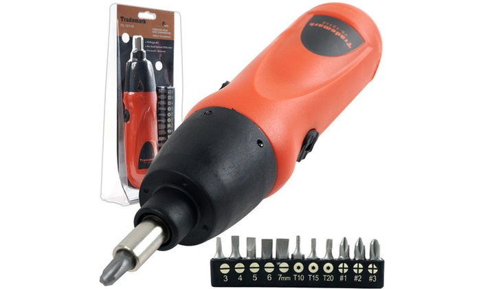 Cordless Screwdriver with 11 bits