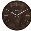"Timekeeper A4003fw 11"" Hastings Walnut Wall Clock With Chrome Accent"
