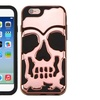 Insten Skullcap Dual Layer Silicone Case For iPhone 6 6s Rose Gold BLK
