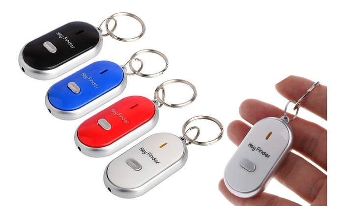KEY FINDER JUST WHISTLE LOST LOCATOR WITH LED LIGHT KEY RING WHISTLE KEYRING
