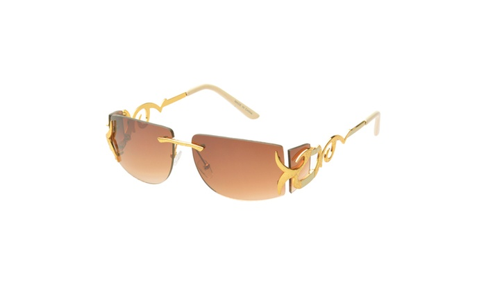 MLC Eyewear 'Cassia' Rimless Rectangle Fashion Sunglasses